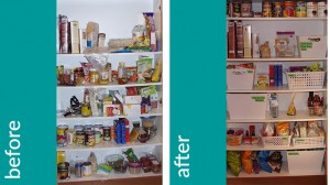 pantry cupboard before and after