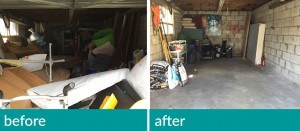 garage-cleanup before and after